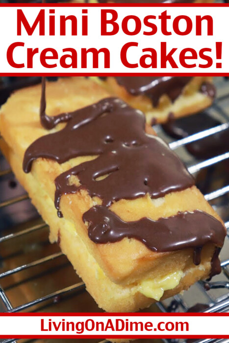 This easy Mini Boston Cream Cakes Recipe gives the yummy flavor of Boston Cream Pie and it's super simple to make it in 5 minutes with just 4 ingredients!