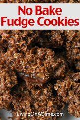 No Bake Fudge Cookies Recipe