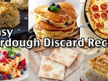 Here are 6 easy sourdough discard recipes to make the most of your sourdough starter. Make pancakes, coffee cake, pizza dough and more!