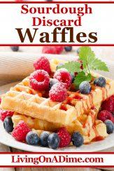 Easy Sourdough Discard Waffles Recipe