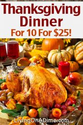Traditional Thanksgiving Recipes – Dinner For 10 For Less Than $25!