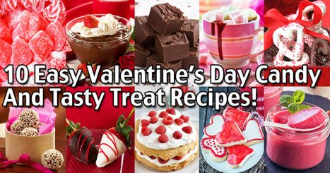 Here are some of our favorite Valentine's Day candy recipes and other tasty treats! Most of these recipes take just a few minutes to make and they are all sure to add that special romantic touch for your Valentine!