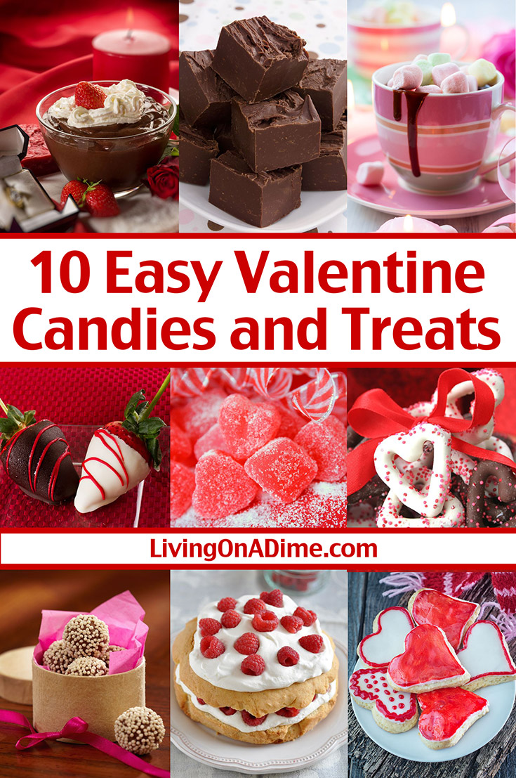 Here are some of our favorite Valentine's Day candy recipes and other tasty treats! Most of these recipes take just a few minutes to make and they are sure to add that special romantic touch for your Valentine!